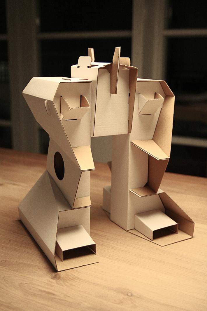 Рука робота своими руками из картона