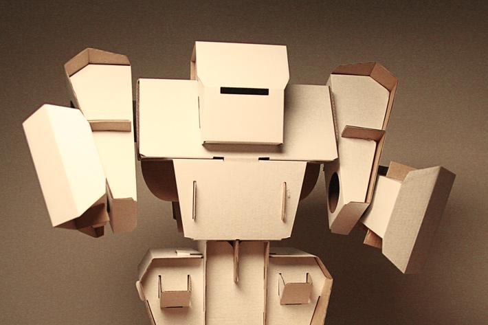 Como hacer un robot de carton - Imagui